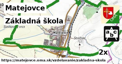 základná škola v Matejovce