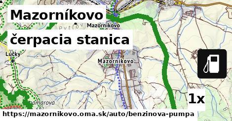 čerpacia stanica v Mazorníkovo