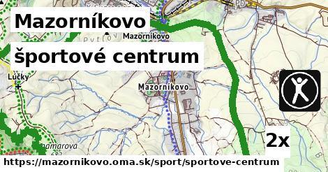 športové centrum v Mazorníkovo