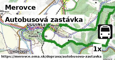ilustračný obrázok k Autobusová zastávka, Merovce