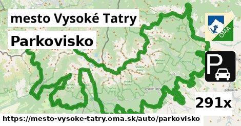 parkovisko v mesto Vysoké Tatry
