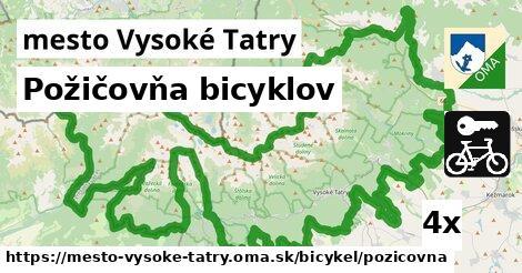 požičovňa bicyklov v mesto Vysoké Tatry