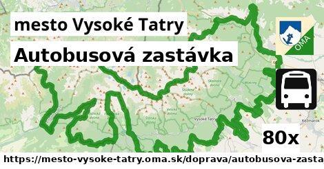 autobusová zastávka v mesto Vysoké Tatry