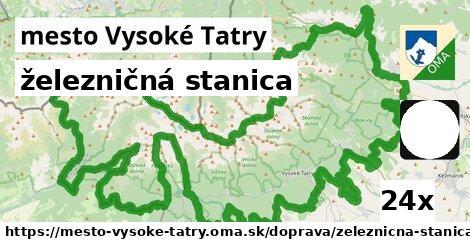 ilustračný obrázok k železničná stanica, mesto Vysoké Tatry