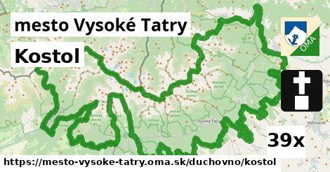 kostol v mesto Vysoké Tatry