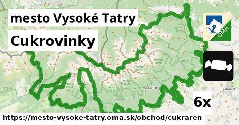 cukrovinky v mesto Vysoké Tatry