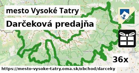 ilustračný obrázok k Darčeková predajňa, mesto Vysoké Tatry