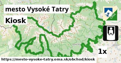 kiosk v mesto Vysoké Tatry
