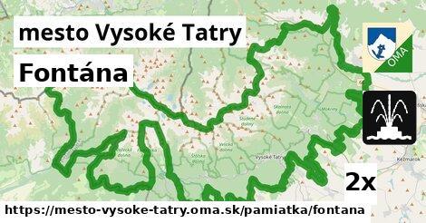 fontána v mesto Vysoké Tatry