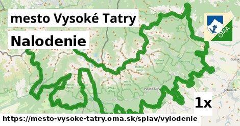 nalodenie v mesto Vysoké Tatry