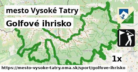 golfové ihrisko v mesto Vysoké Tatry