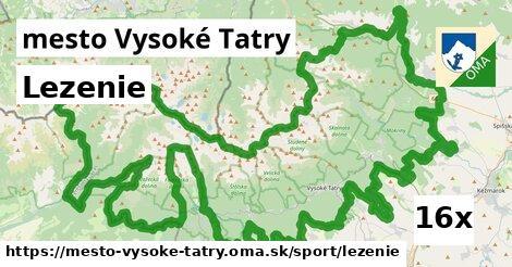 lezenie v mesto Vysoké Tatry
