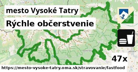 rýchle občerstvenie v mesto Vysoké Tatry