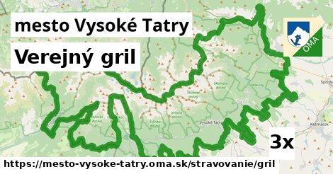verejný gril v mesto Vysoké Tatry