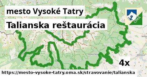 talianska reštaurácia v mesto Vysoké Tatry
