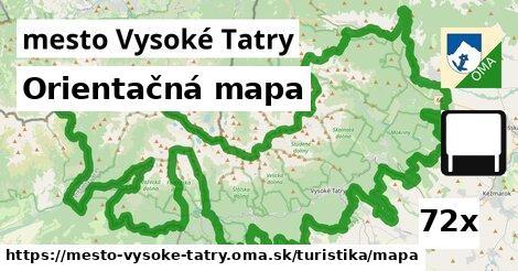 orientačná mapa v mesto Vysoké Tatry