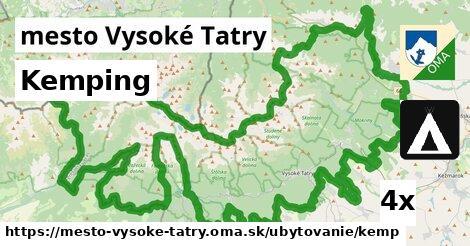 kemping v mesto Vysoké Tatry