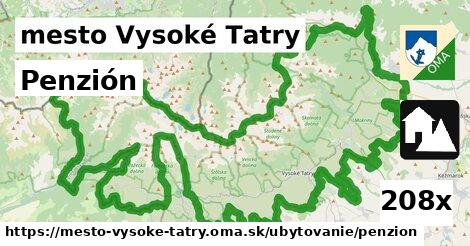 penzión v mesto Vysoké Tatry