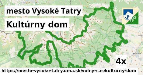 kultúrny dom v mesto Vysoké Tatry