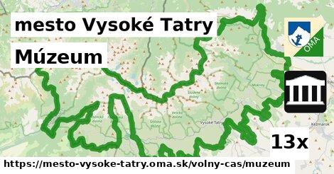múzeum v mesto Vysoké Tatry