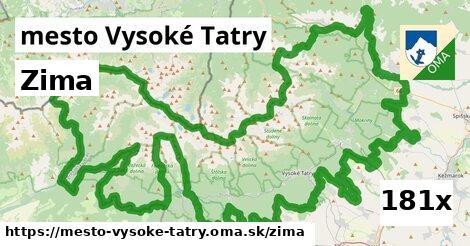 zima v mesto Vysoké Tatry