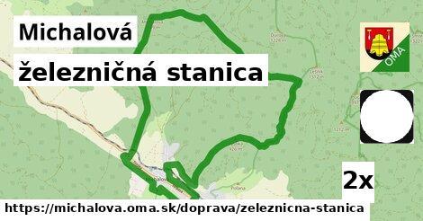 ilustračný obrázok k železničná stanica, Michalová