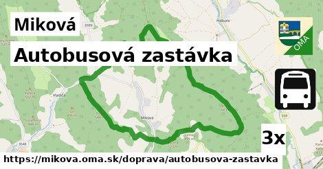 ilustračný obrázok k Autobusová zastávka, Miková