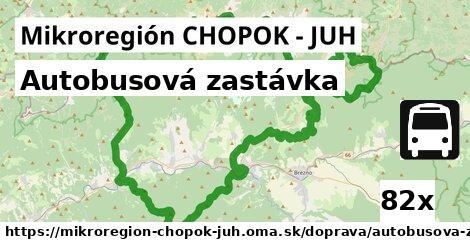 autobusová zastávka v Mikroregión CHOPOK - JUH