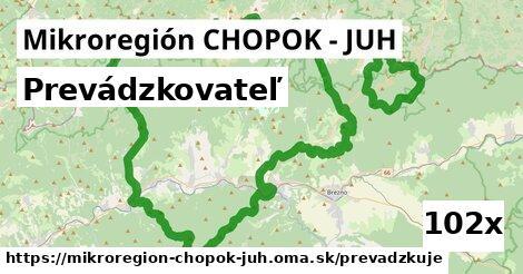 prevádzkovateľ v Mikroregión CHOPOK - JUH
