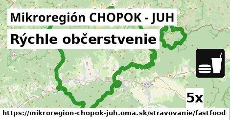 rýchle občerstvenie v Mikroregión CHOPOK - JUH