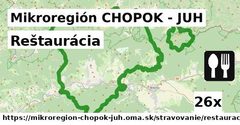ilustračný obrázok k Reštaurácia, Mikroregión CHOPOK - JUH