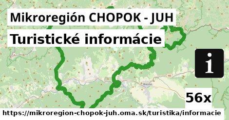 ilustračný obrázok k Turistické informácie, Mikroregión CHOPOK - JUH