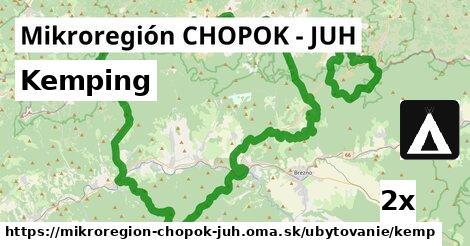 kemping v Mikroregión CHOPOK - JUH