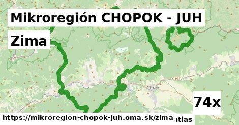 zima v Mikroregión CHOPOK - JUH