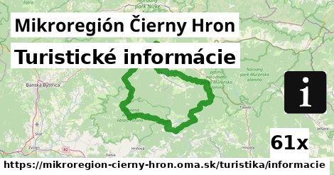 turistické informácie v Mikroregión Čierny Hron