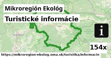 turistické informácie v Mikroregión Ekológ