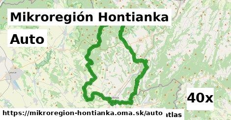 auto v Mikroregión Hontianka