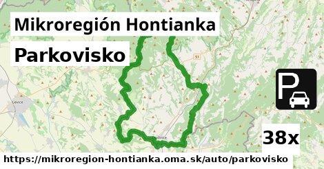 parkovisko v Mikroregión Hontianka