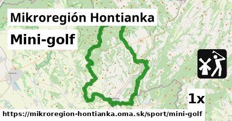mini-golf v Mikroregión Hontianka