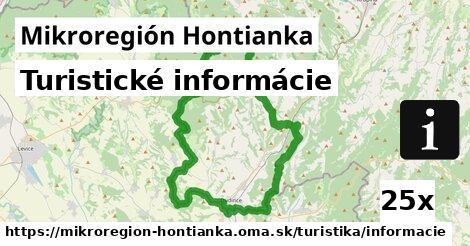 turistické informácie v Mikroregión Hontianka