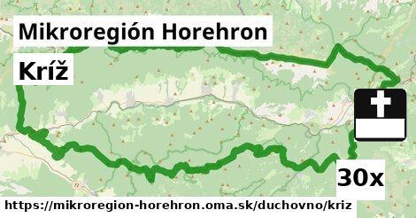 kríž v Mikroregión Horehron