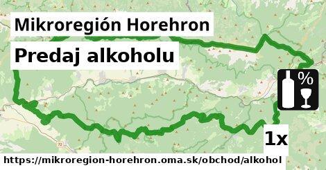 predaj alkoholu v Mikroregión Horehron