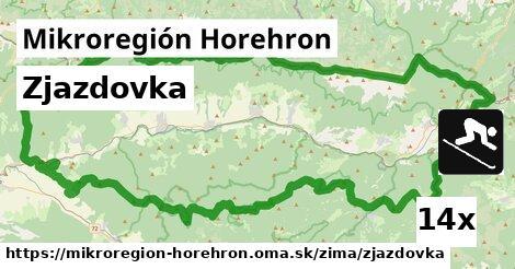 zjazdovka v Mikroregión Horehron