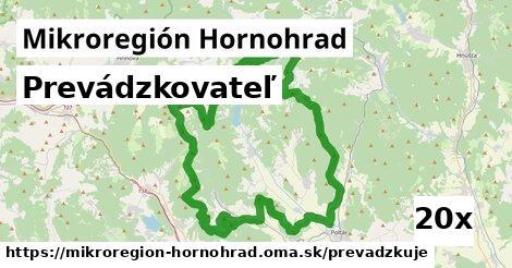 prevádzkovateľ v Mikroregión Hornohrad