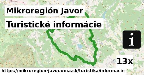 ilustračný obrázok k Turistické informácie, Mikroregión Javor