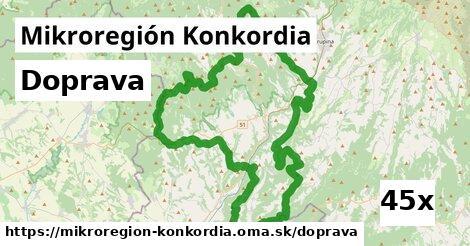 doprava v Mikroregión Konkordia
