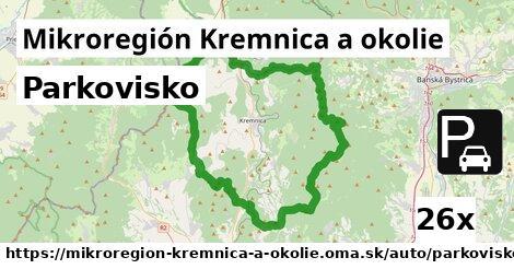 parkovisko v Mikroregión Kremnica a okolie