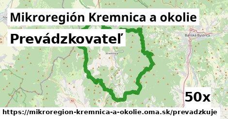prevádzkovateľ v Mikroregión Kremnica a okolie