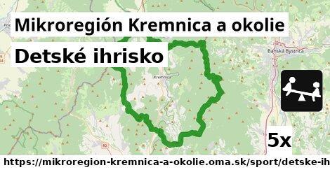 detské ihrisko v Mikroregión Kremnica a okolie