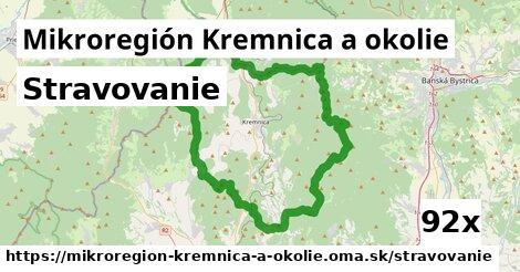 stravovanie v Mikroregión Kremnica a okolie